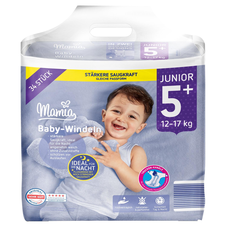 Mamia Baby-Windeln Junior 5+ 34 Stück