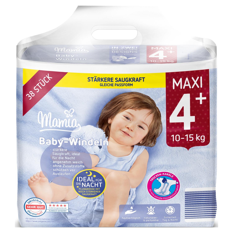 Mamia Baby-Windeln Maxi 4+ 38 Stück