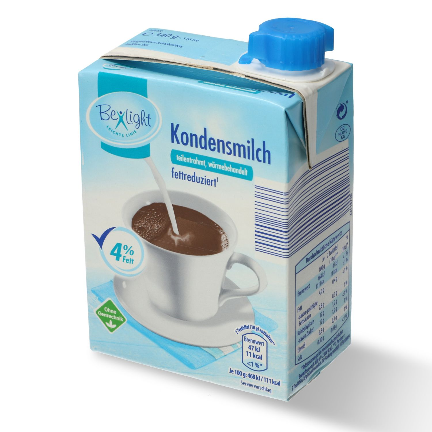 Be Light Kondensmilch 4% Fett 316ml