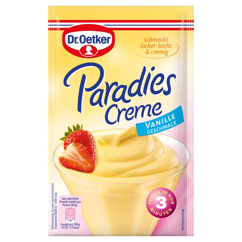 Dr. Oetker Paradies Creme Vanille 60g
