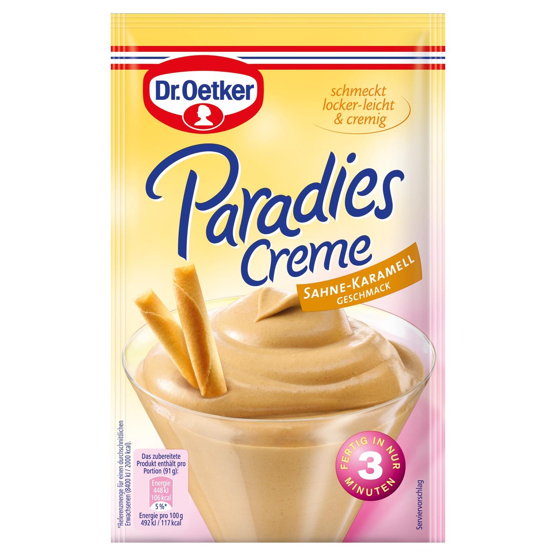 Dr. Oetker Paradies Creme Sahne-Karamell Geschmack 65g