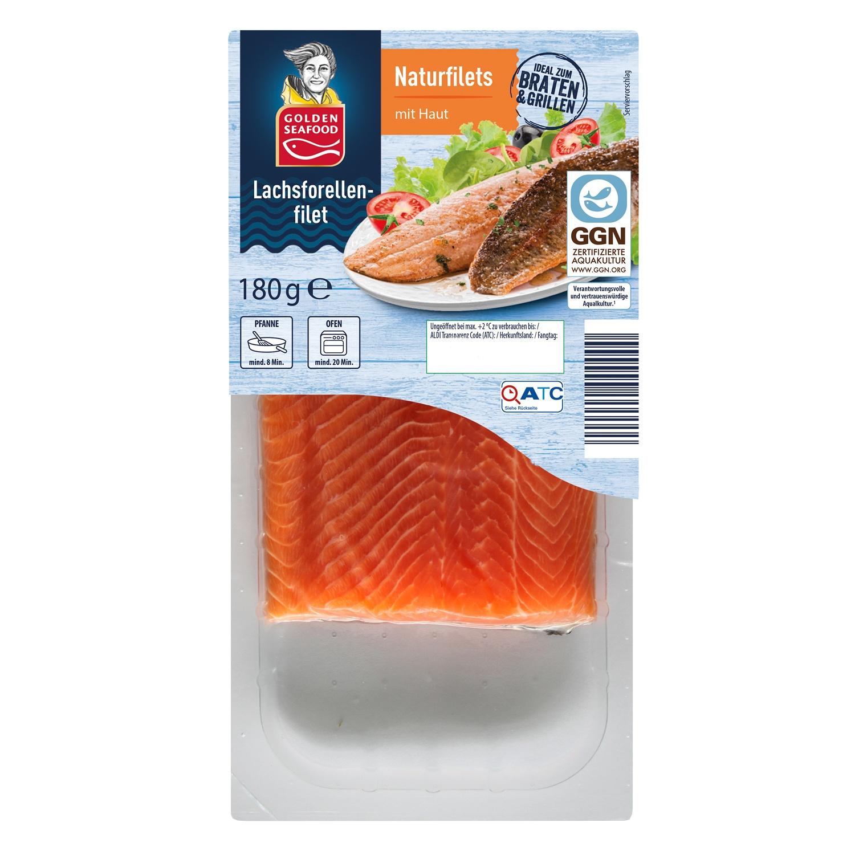 ALMARE Seafood Lachsforellenfilet mit Haut 180g