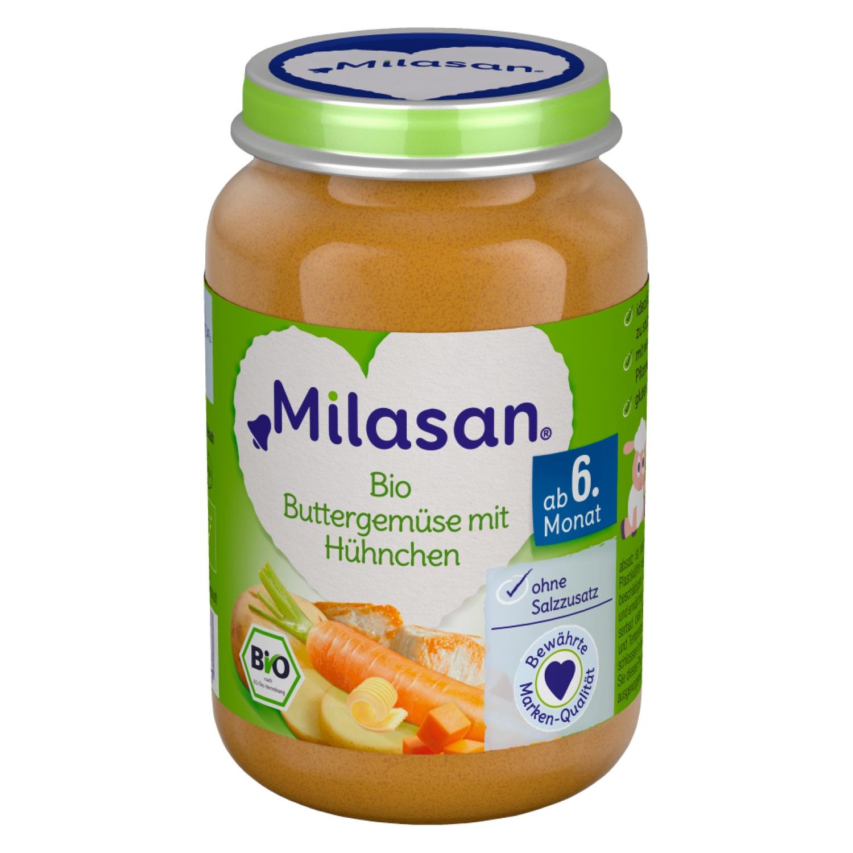MILASAN Bio Buttergemüse mit Hühnchen 190g