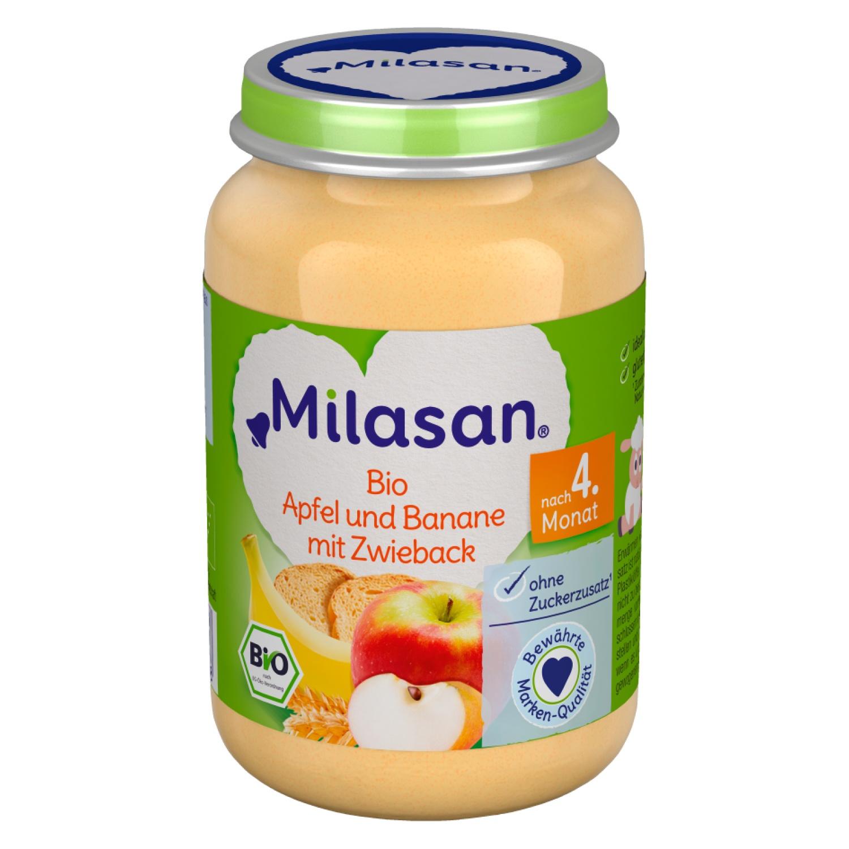 MILASAN Bio Apfel und Banane mit Zwieback 190g