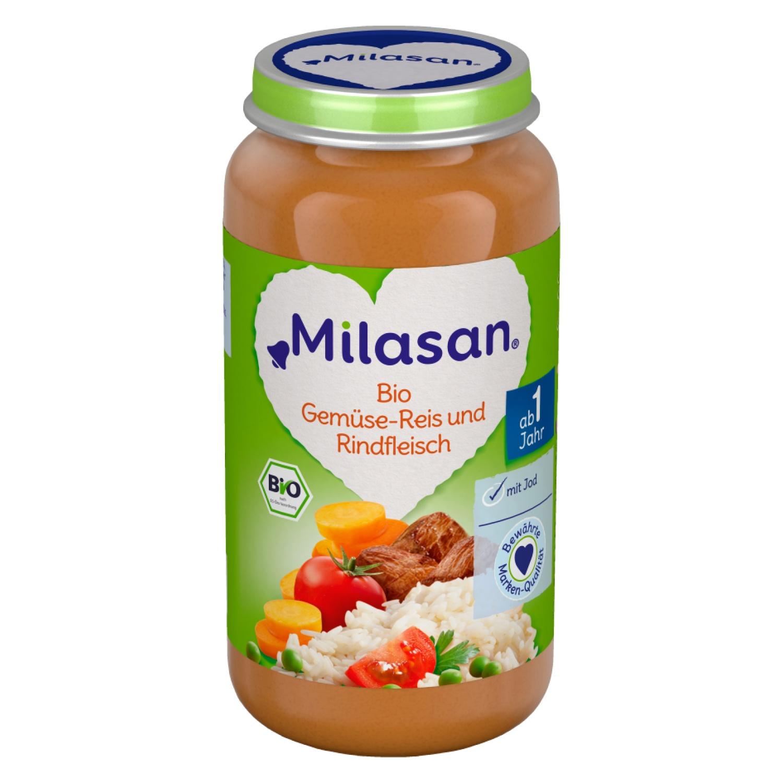 MILASAN Bio Gemüse-Reis und Rindfleisch 250g