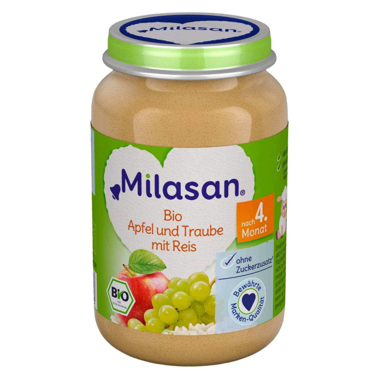 MILASAN Bio Apfel und Traube mit Reis 190g