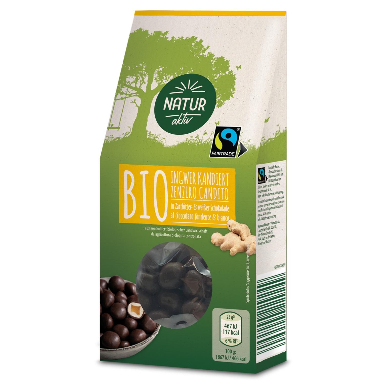 NATUR AKTIV BIO-Nuss-/Frucht-Sortiment, Ingwer Zartbitter