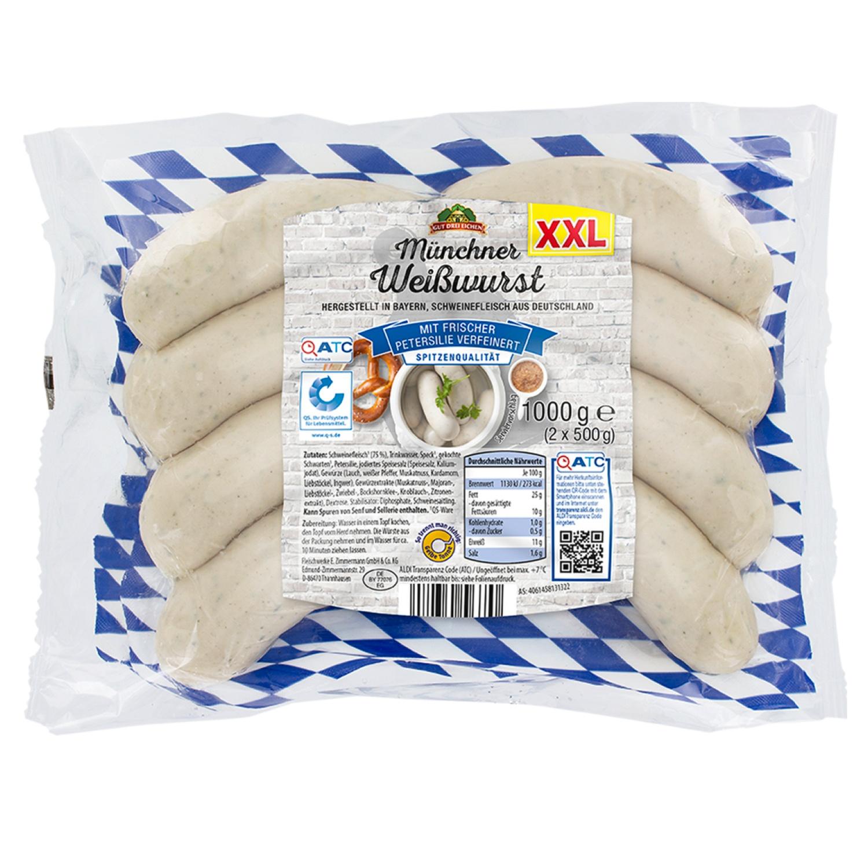 Gut Drei Eichen Münchner Weißwürste, XXL 1kg*