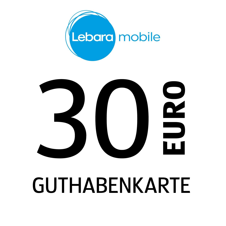 Lebara mobile Guthabenkarte 30€