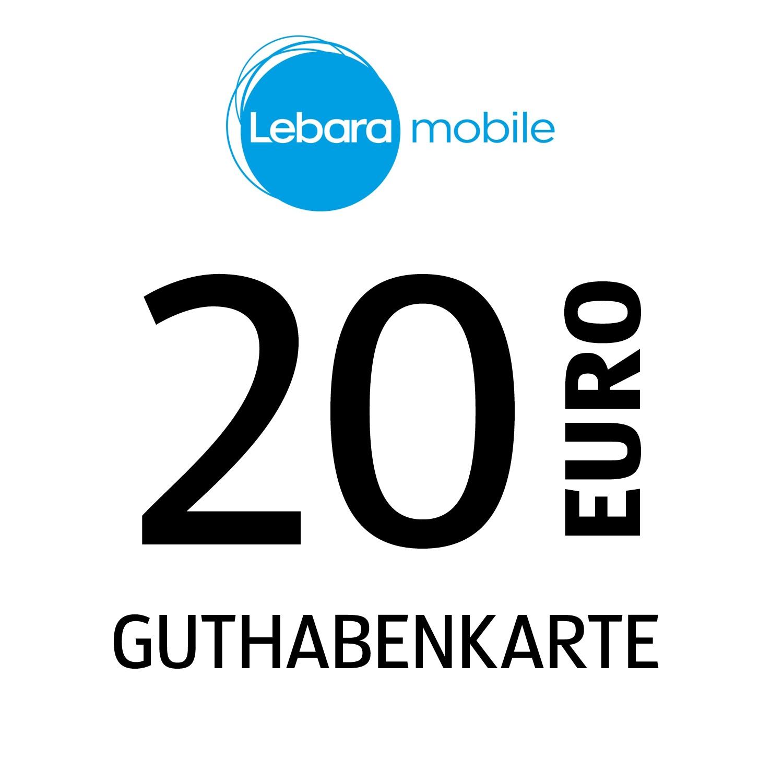 Lebara mobile Guthabenkarte 20€