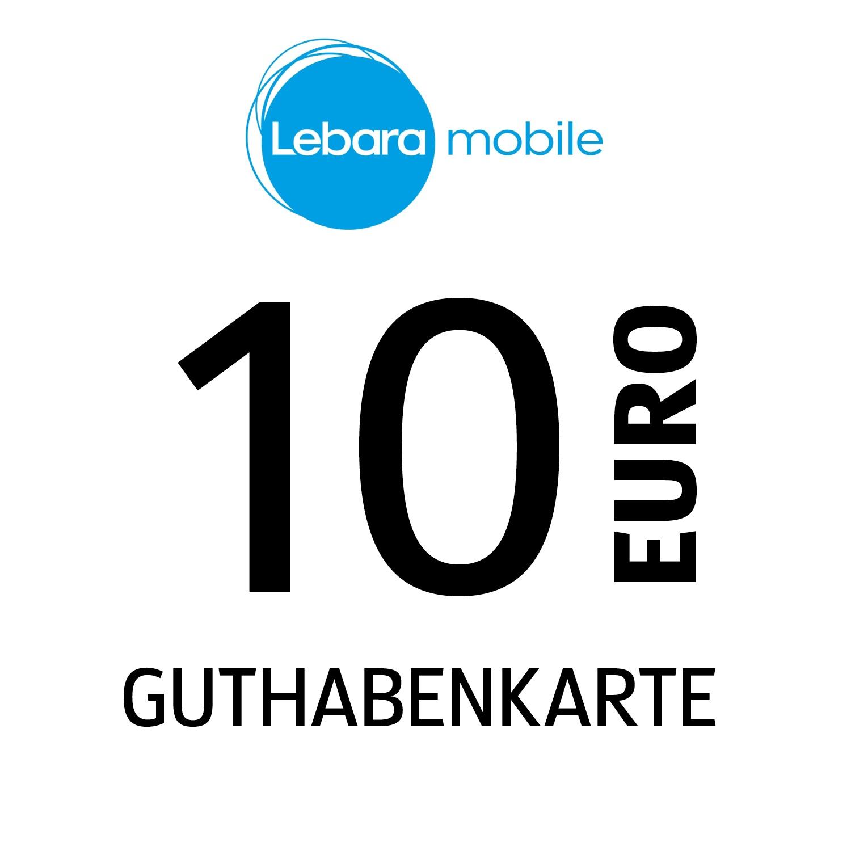 Lebara mobile Guthabenkarte 10€