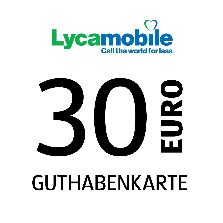 Lycamobile Guthabenkarte 30€