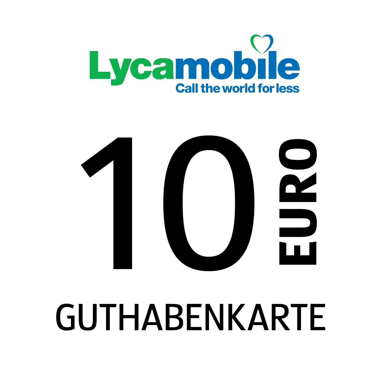 Lycamobile Guthabenkarte 10€