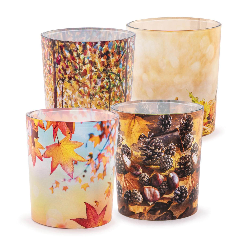 Herbstliche Duftkerze im Glas