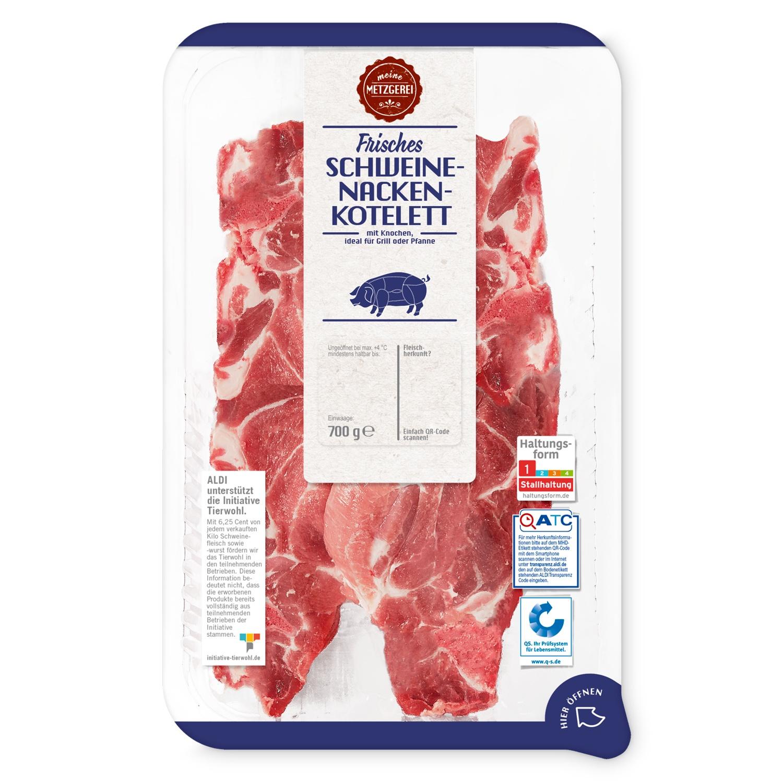 meine METZGEREI Frisches Schweinenacken-Kotelett 700g