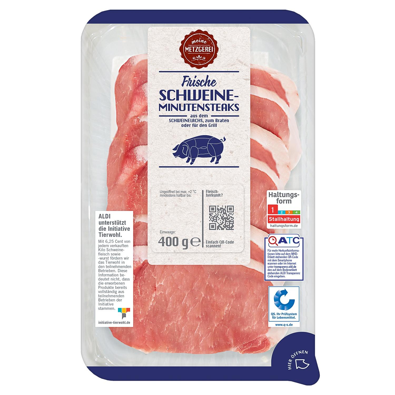 meine METZGEREI Frische Schweine-Minutensteaks 400 g
