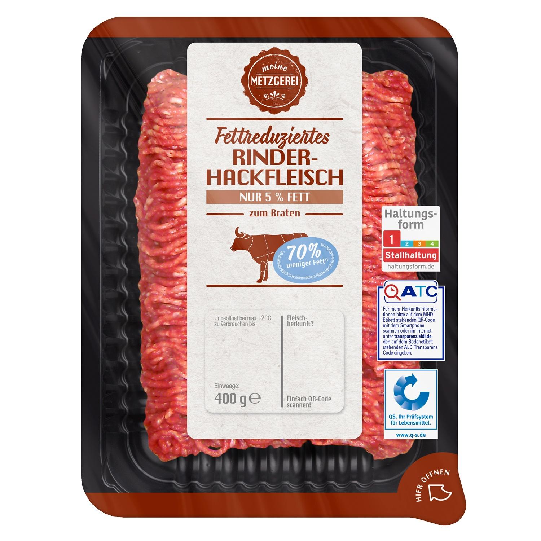 meine METZGEREI Fettreduziertes Rinderhackfleisch 5% Fett 400g