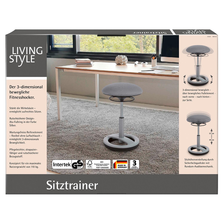 Living Style Sitztrainer Silber / Grau*