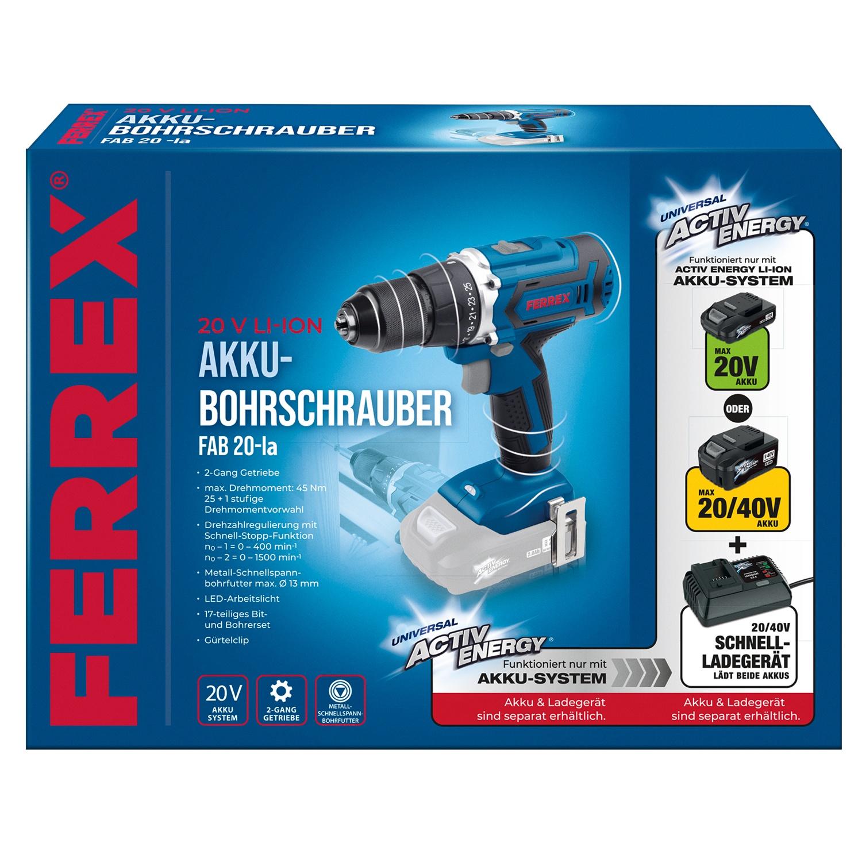 FERREX® 20 V Akku-Bohrschrauber*