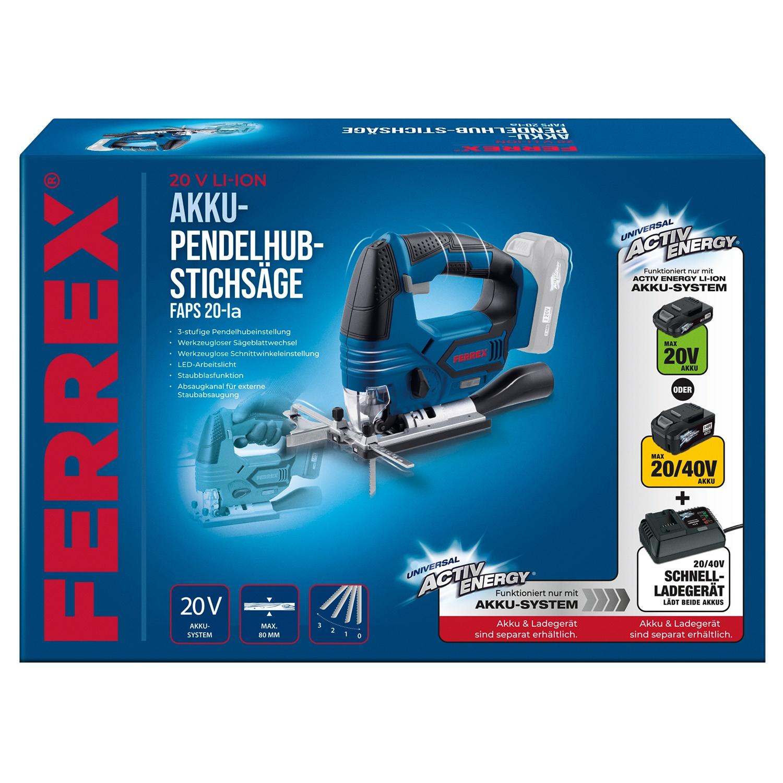 FERREX® 20 V Akku-Pendelhub-Stichsäge*
