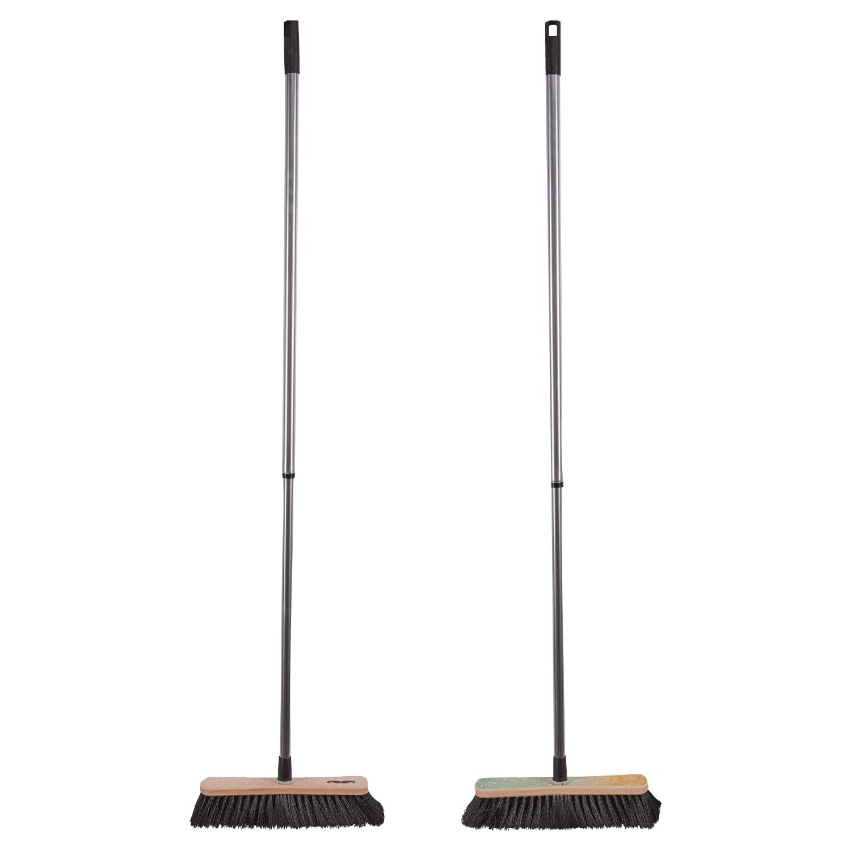 EASY HOME® Holzbesen, Holzbürste oder Kehr-Set*