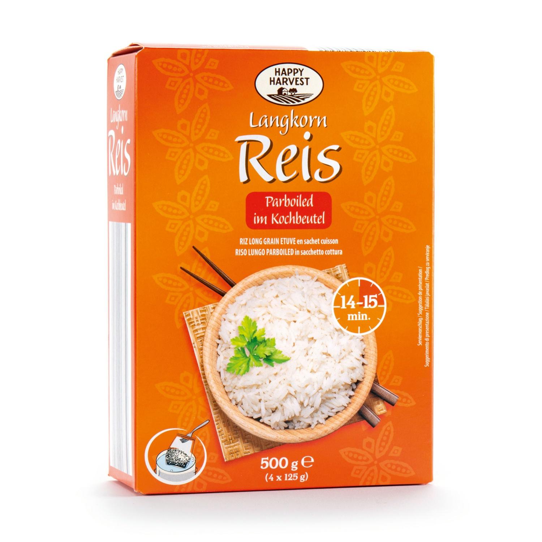 HAPPY HARVEST Parboiled Reis im Kochbeutel