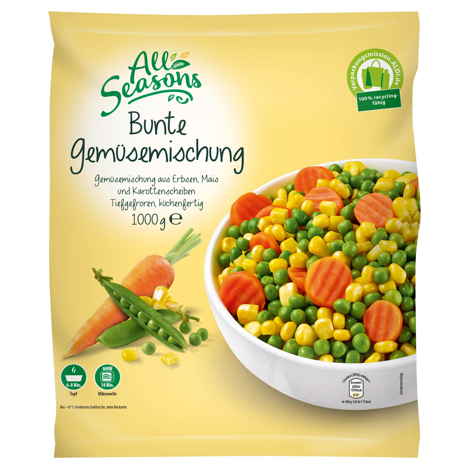 All Seasons Gemüse-Sortiment 1000 g