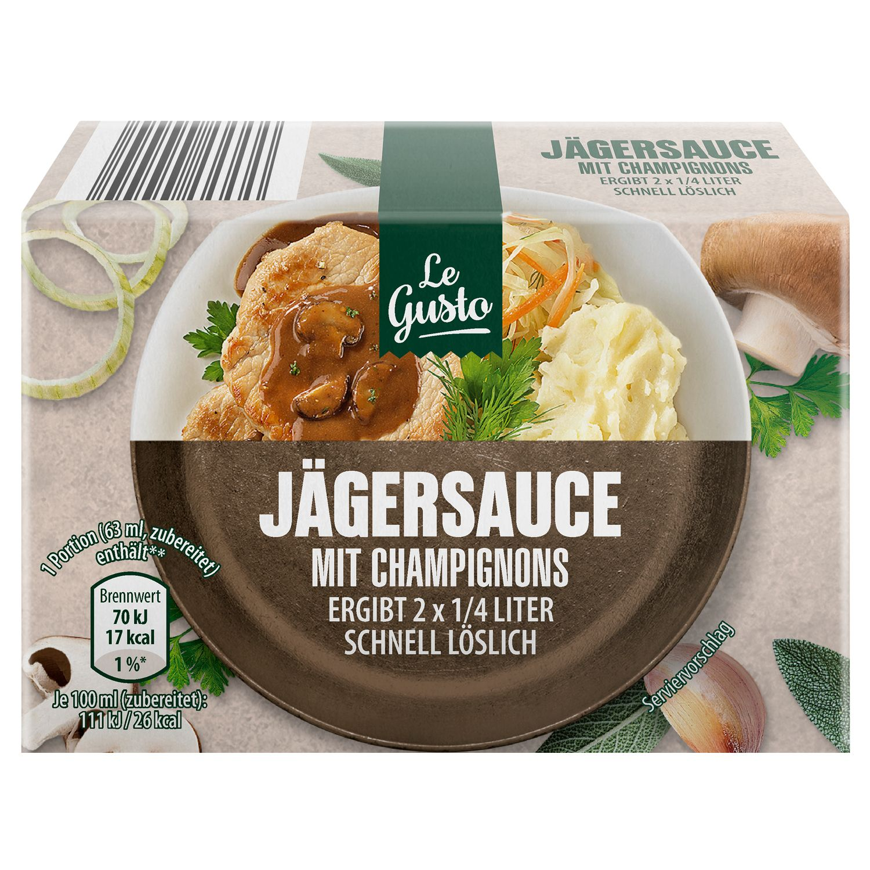 Le Gusto Jägersauce Mit Champignons 43g