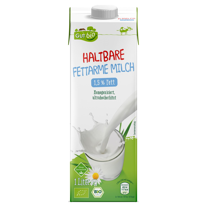GUT bio Bio-H-Milch 1,5 % Fett 1 l