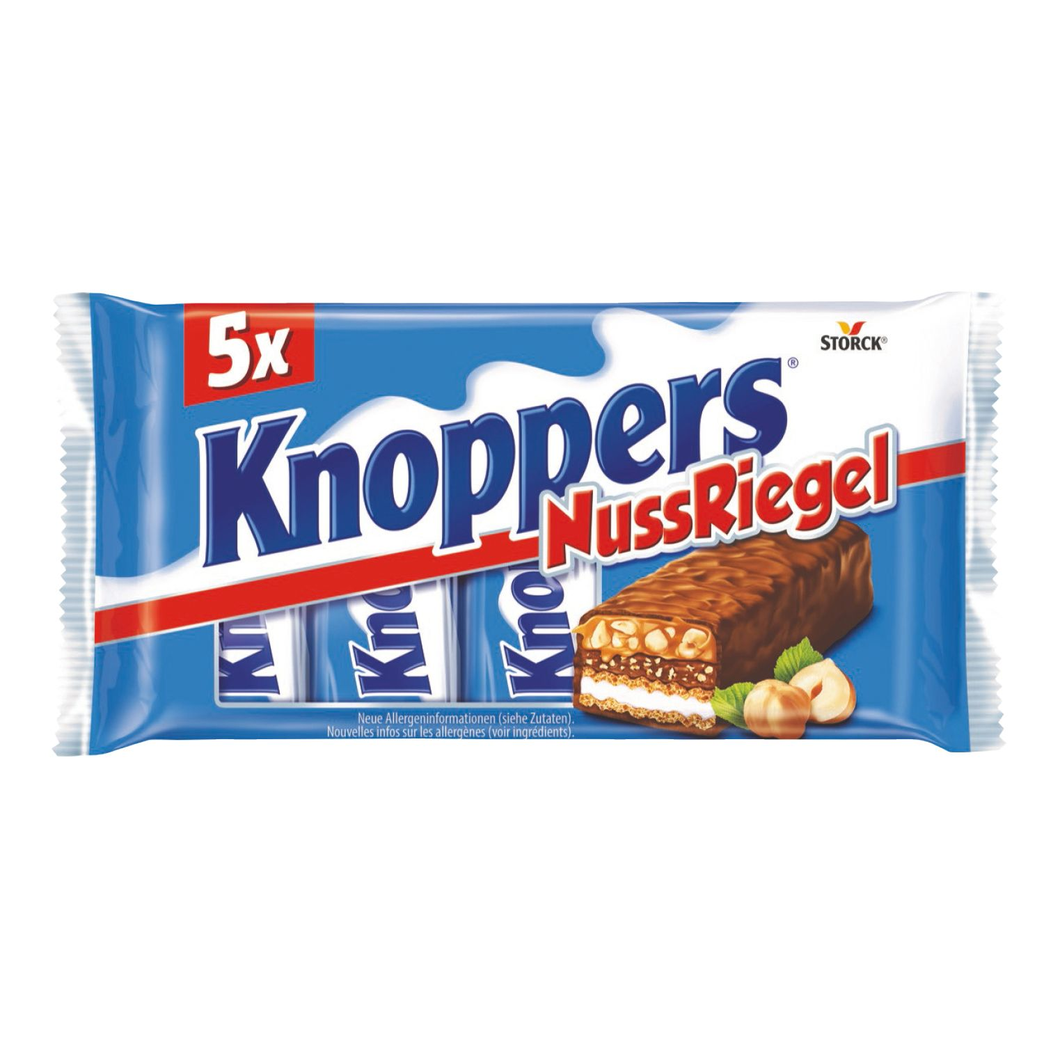 5x Knoppers NussRiegel 200g