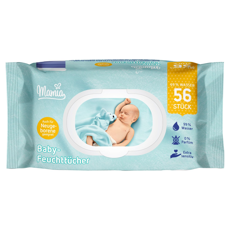 Mamia Baby-Feuchttücher 2x56 Stück