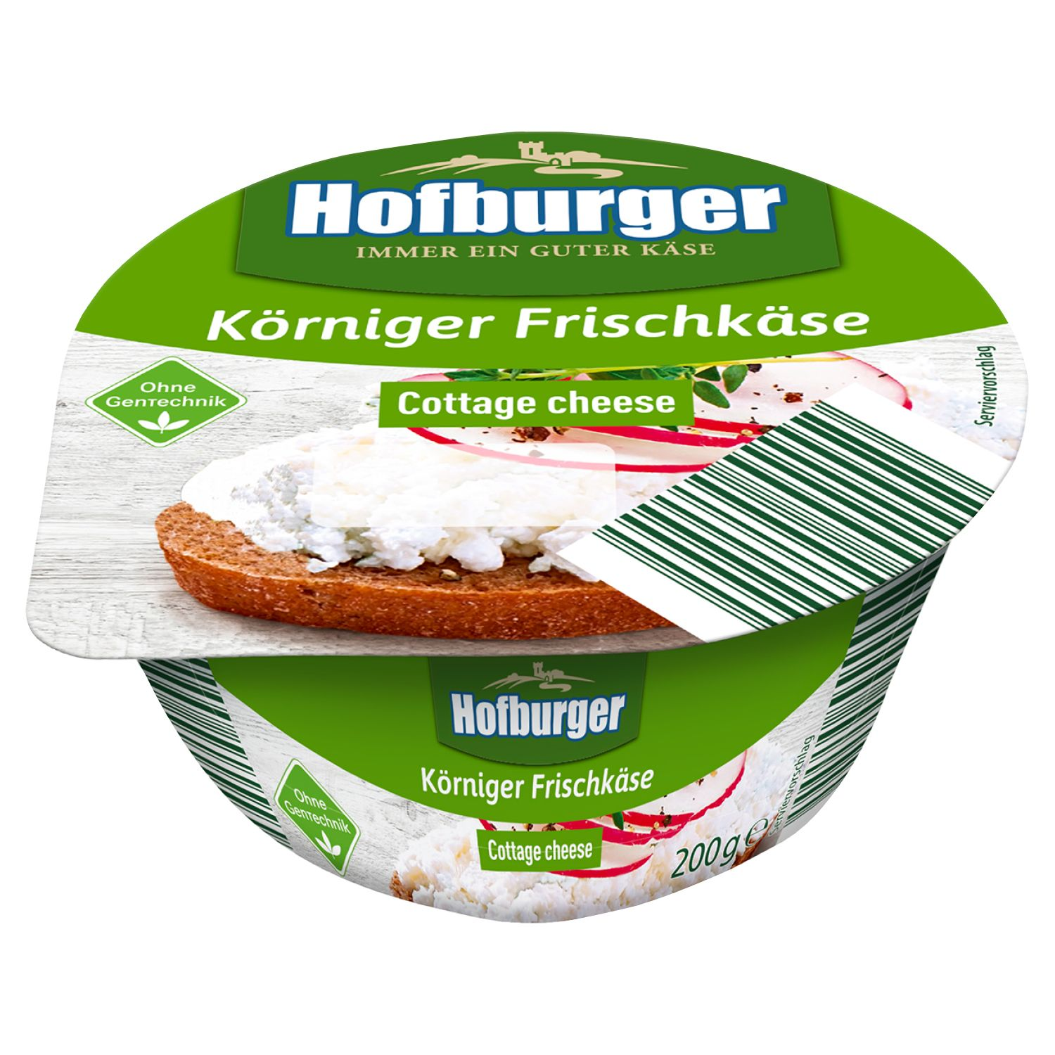 Hofburger Körniger Frischkäse Cottage Cheese 200g