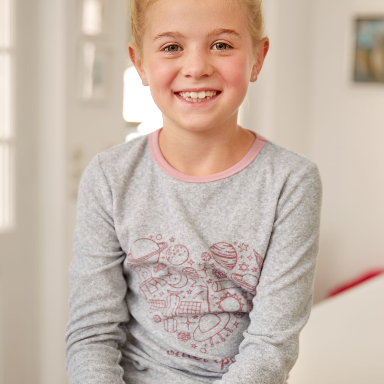 ALIVE Kinder-Schlafanzug, Frottee, Baumwolle (Bio)