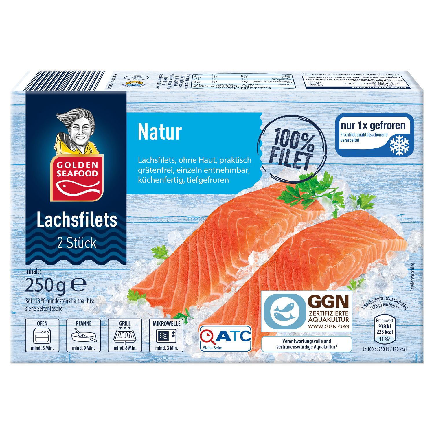 GOLDEN SEAFOOD Lachsfilets 250 g