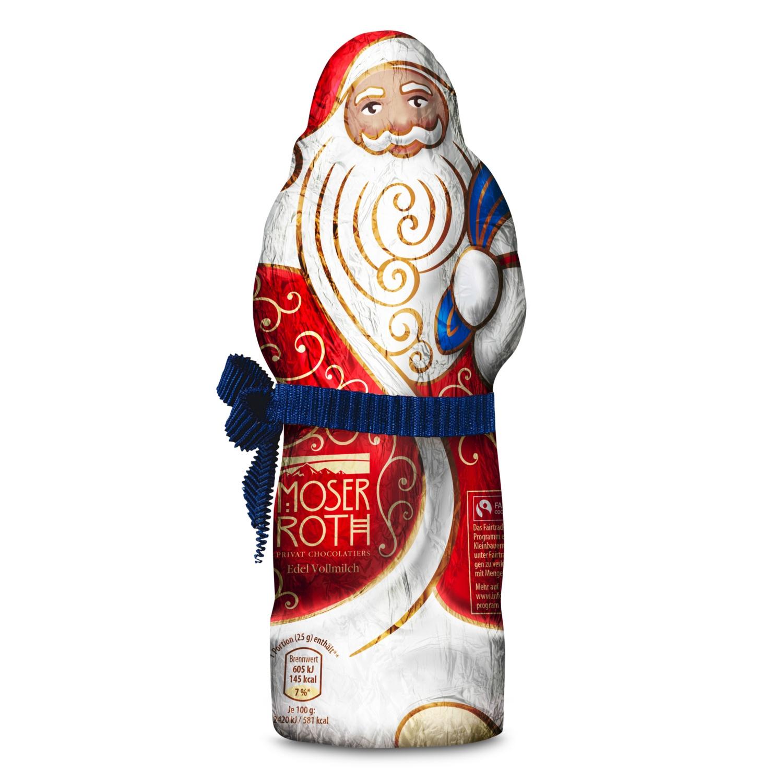 MOSER ROTH Weihnachtsmann, Vollmilch