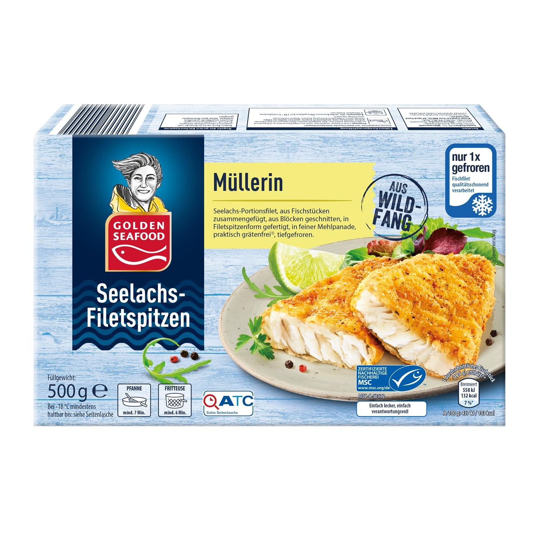 GOLDEN SEAFOOD Seelachs-Filetspitzen 500g