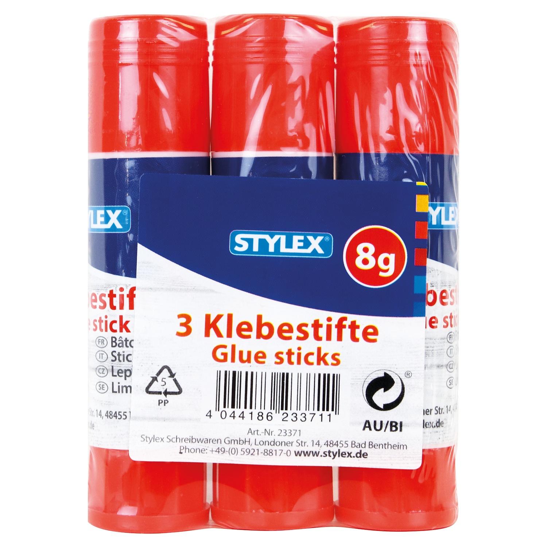 STYLEX® Schreibwaren Klebestifte 3 x 8 g*