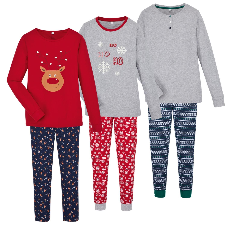 BLUE MOTION Damen-Xmas-Pyjama, Baumwolle (BIO)