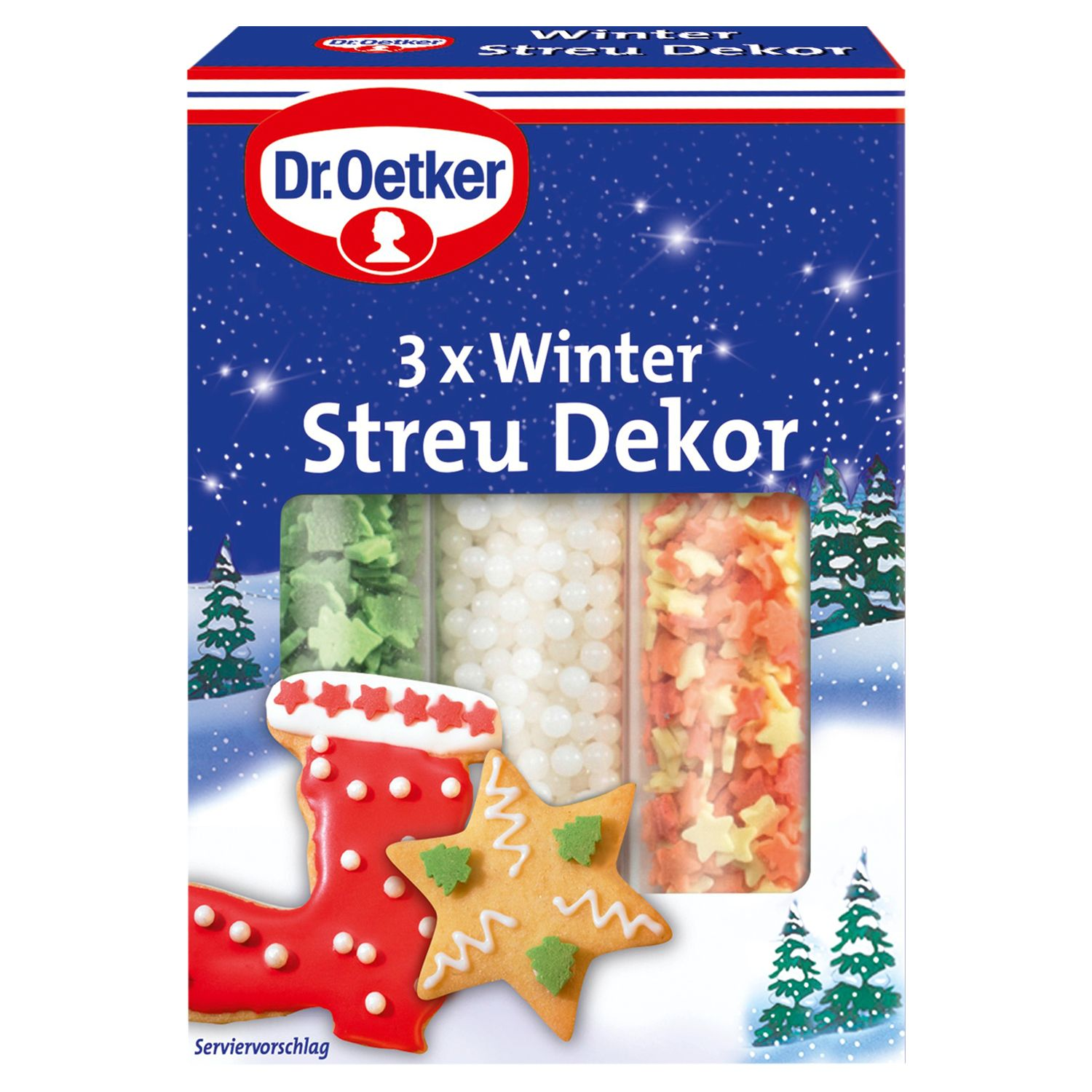Dr. Oetker Backzutaten, Winter Streu Dekor 82 g*