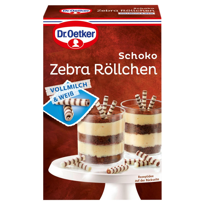 Dr. Oetker Backzutaten, Schoko Zebra Röllchen 75 g*