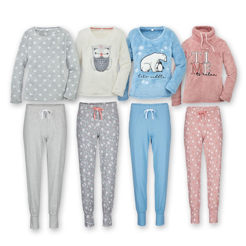 BLUE MOTION Damen-Flausch-Pyjama