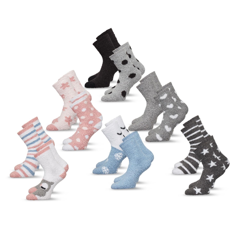 BLUE MOTION Flausch-Socken, Doppelpkg.