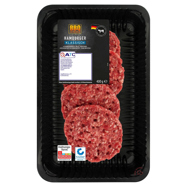BBQ Hamburger vom Rind 400 g
