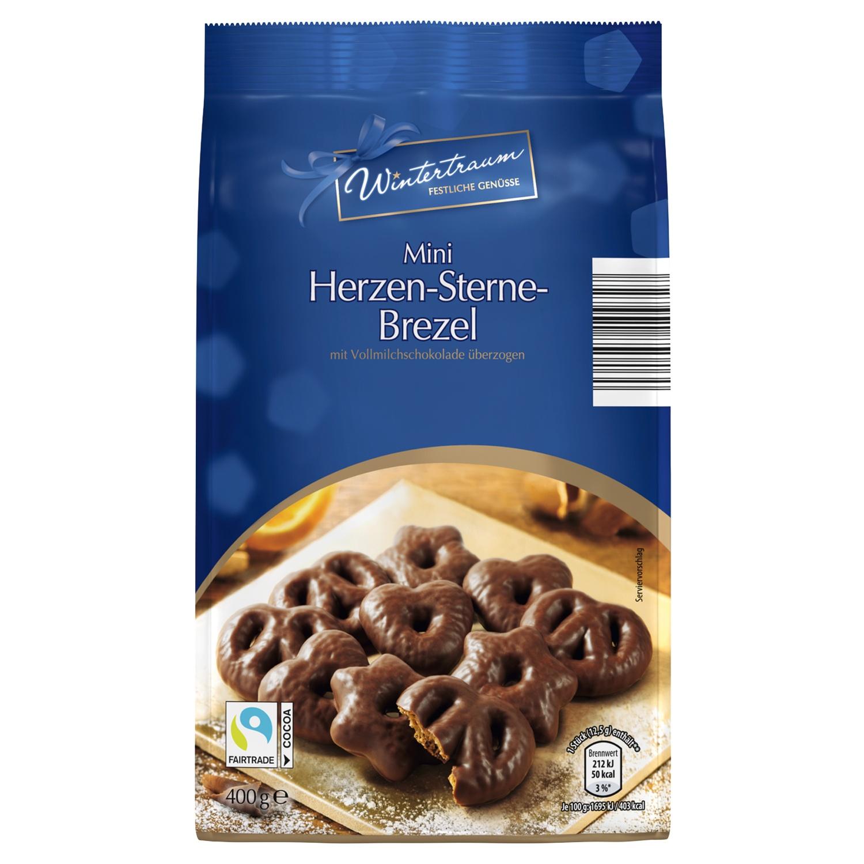 Wintertraum Mini Herzen-Sterne-Brezel 400 g