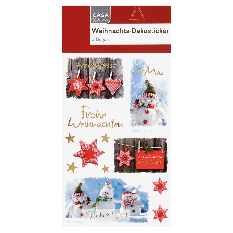 CASA Deco Weihnachts-Dekosticker*
