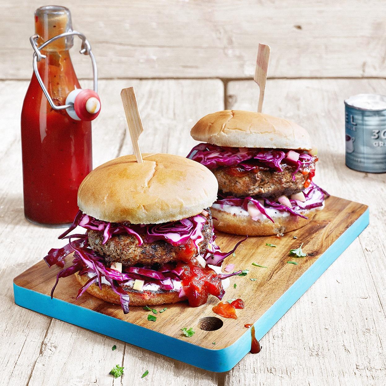 Rotkohl-Burger