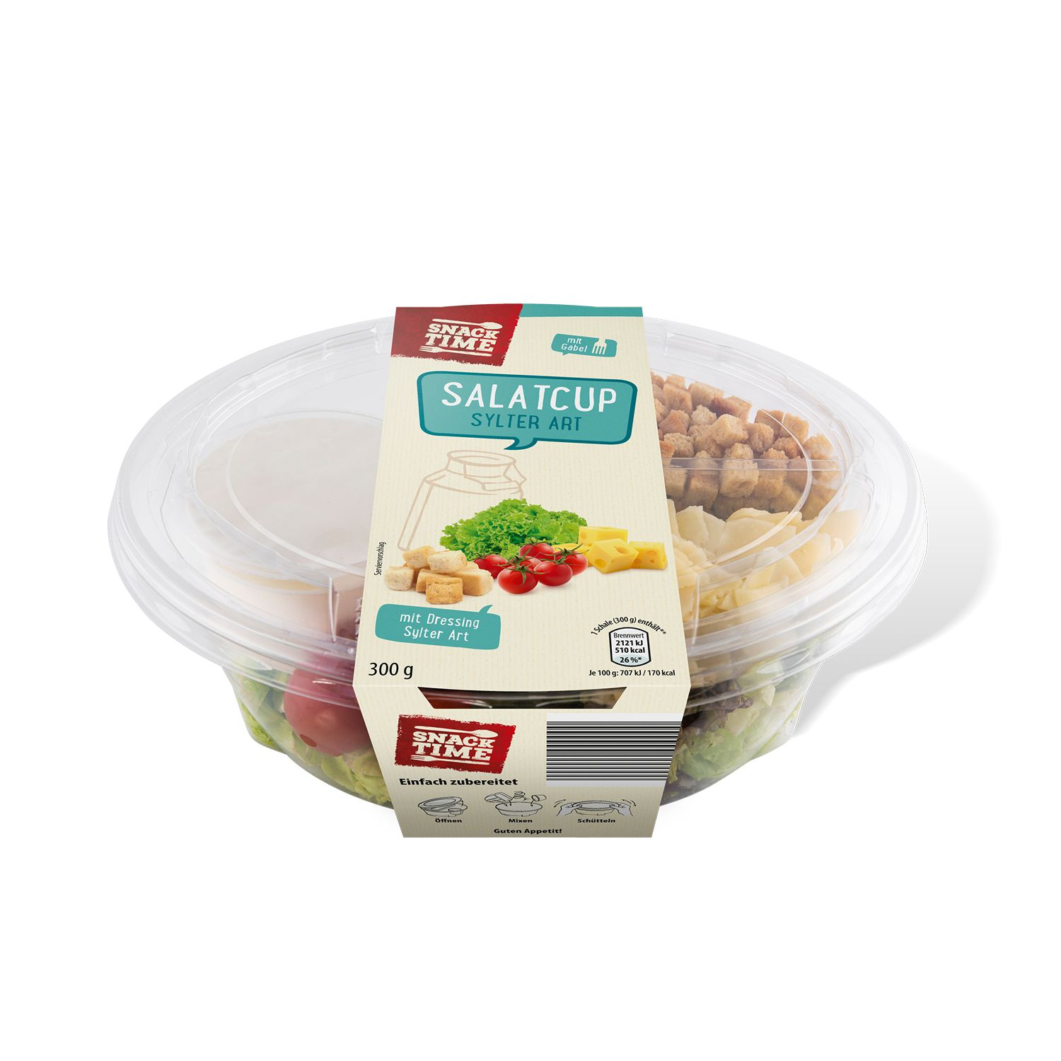 SNACK TIME Salatcup mit Dressing 300 g