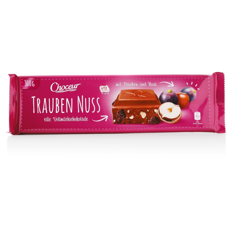 CHOCEUR Schokolade, Traube-Nuss