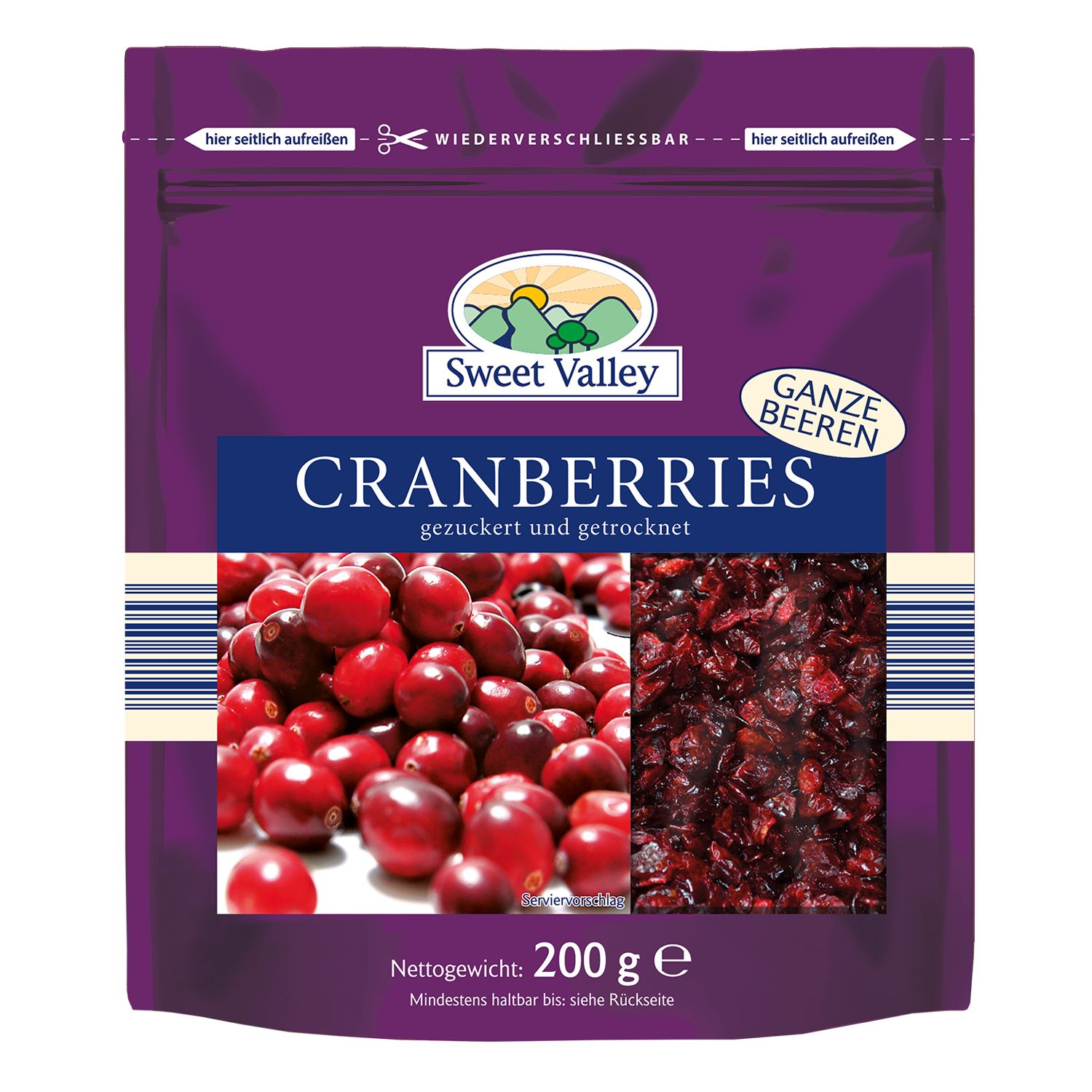 Sweet Valley Cranberries 200 g