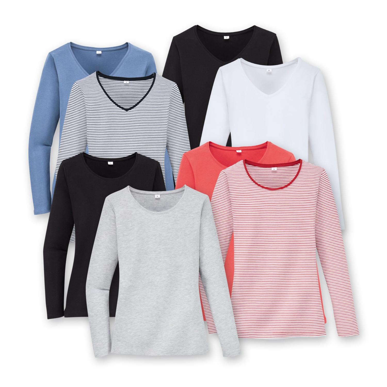 BLUE MOTION Damen-Basic-Shirts, Baumwolle (BIO), Doppelpkg.